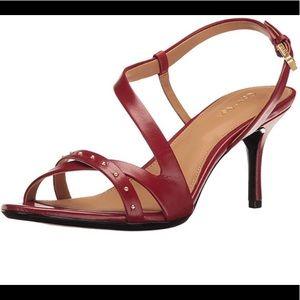 Calvin Klein new Red sandals heels sz 9